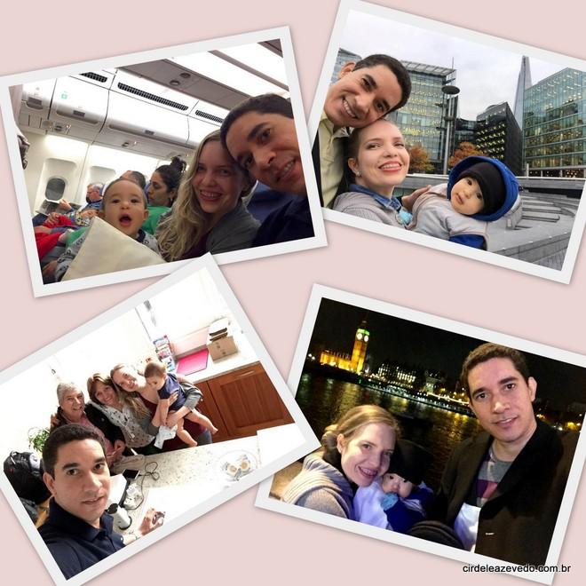 Nós em nossa primeira viagem em família. O destino foi Londres.
