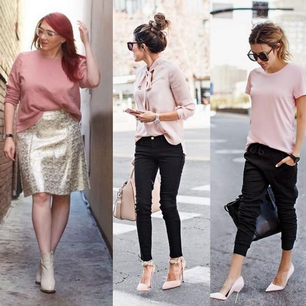 Blusa rosa millennial