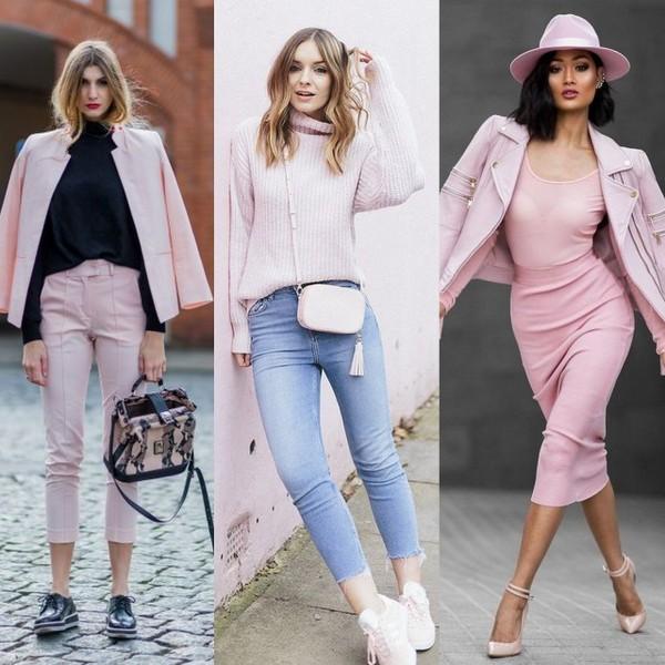 Blazer, tricot e casaco no tom rosa pastel também ficam ótimos