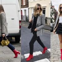 Tendência do inverno para usar já: bota vermelha