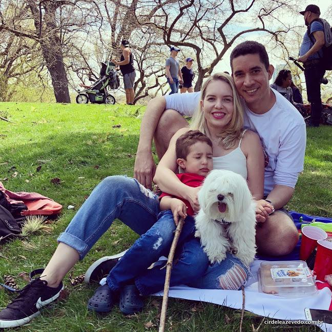 Família reunida no High Park