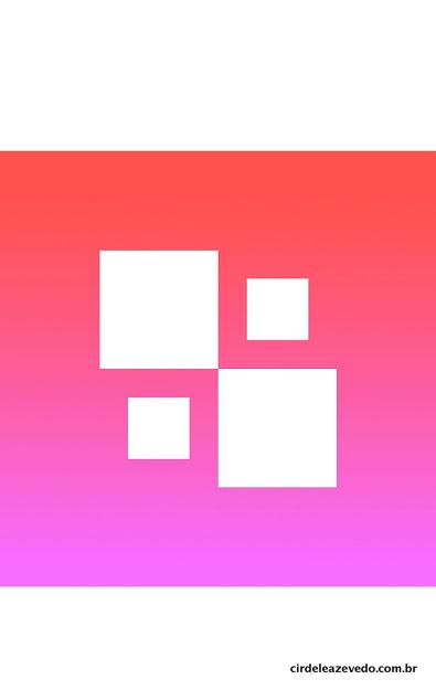 Novo logo do App nas cores rosa e branco