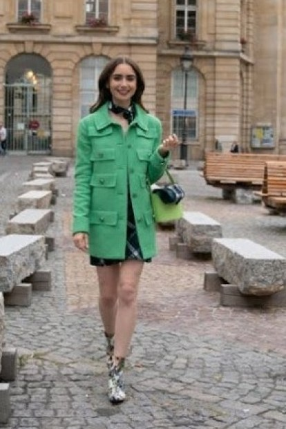 The green coat