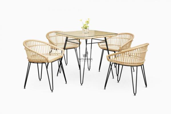 Kuga Rattan Dining Set | Dining Set Furniture | Dining Furniture | Furniture Cirebon | Rattan Cirebon | Dining Rattan Cirebon | Kuuga Wicker Rattan Furniture
