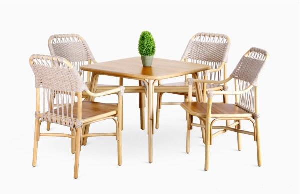 Rancangan-Dining-Set | Rancangan Rattan Dining Set | Wicker Dining Set | Dining Table with Dining Chair