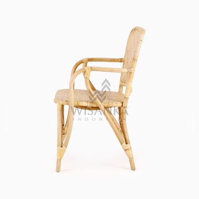 Vivi Wicker Rattan Natural Chair side