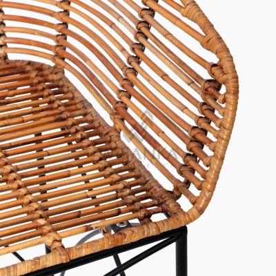 Chloe natural rattan wicker Bar Chair detail