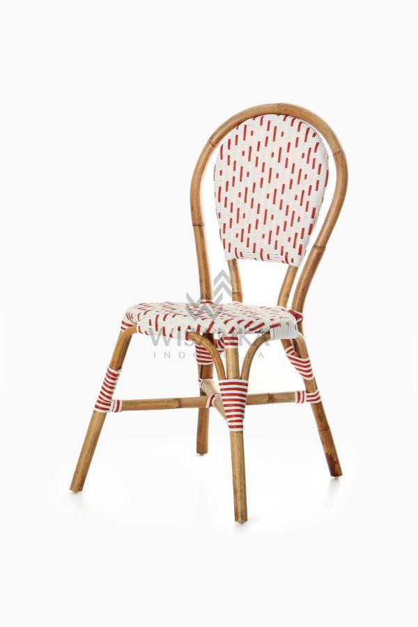 Aren Bistro Chair Aren Wicker Dining Chair perspective