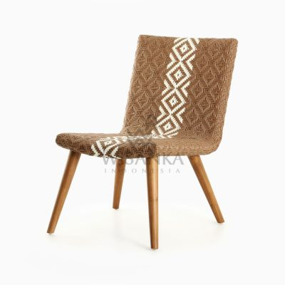 Neysa Wicker Rattan Chair perspective