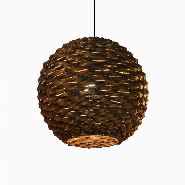 Nganyam Hanging Lamp - Circle Pendant Light