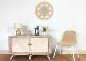 Ev Dekorasyon Fikirleri için Rattan Mobilya - Rattan Ayna