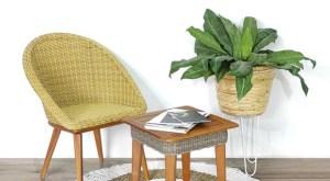 Ev Dekorasyon Fikirleri için Rattan Mobilya - Rattan Bitki Standı