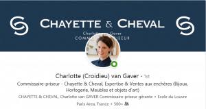 Charlotte van Gaver, commissaire priseur Chayette et Cheval