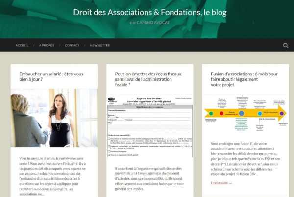 newsletter de Camino Avocat : Droit des Association et Fondations