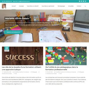 Stratégie digitale & Site web de Mariette Strub, psychologue du travail 1
