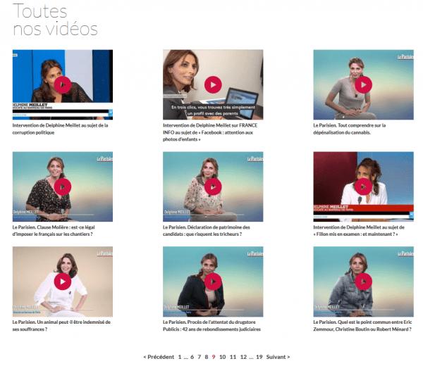 Vidéos Delphine Meillet