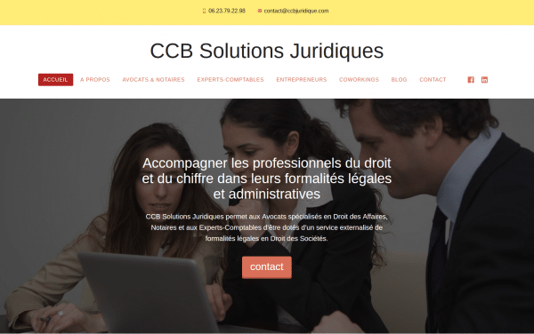 Site internet de CCB Solutions Juridiques