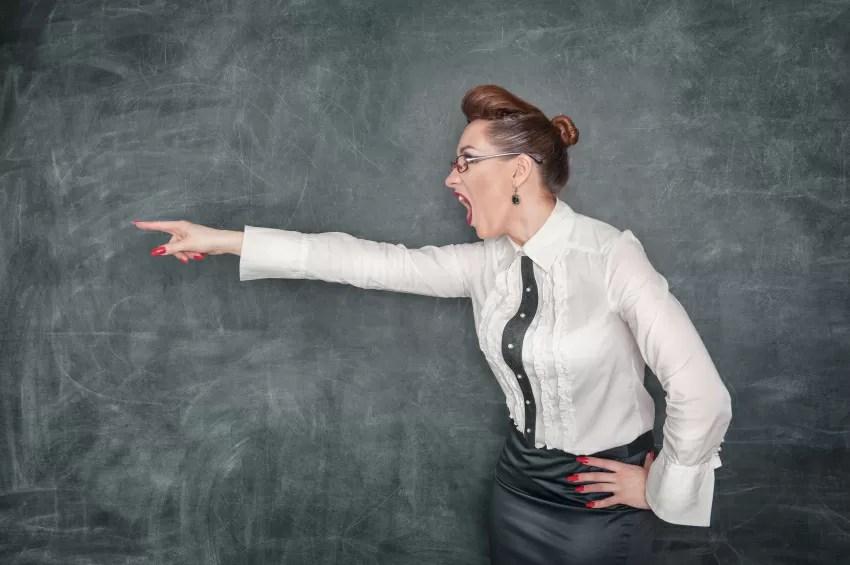Errori di un insegnante