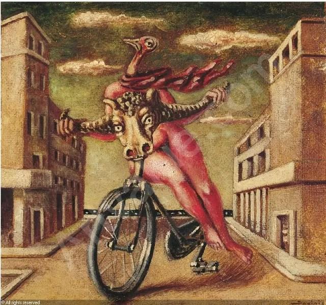 Alberto Savinio, bicicletta