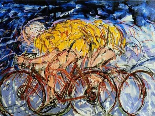 Mario Schifano e la bici