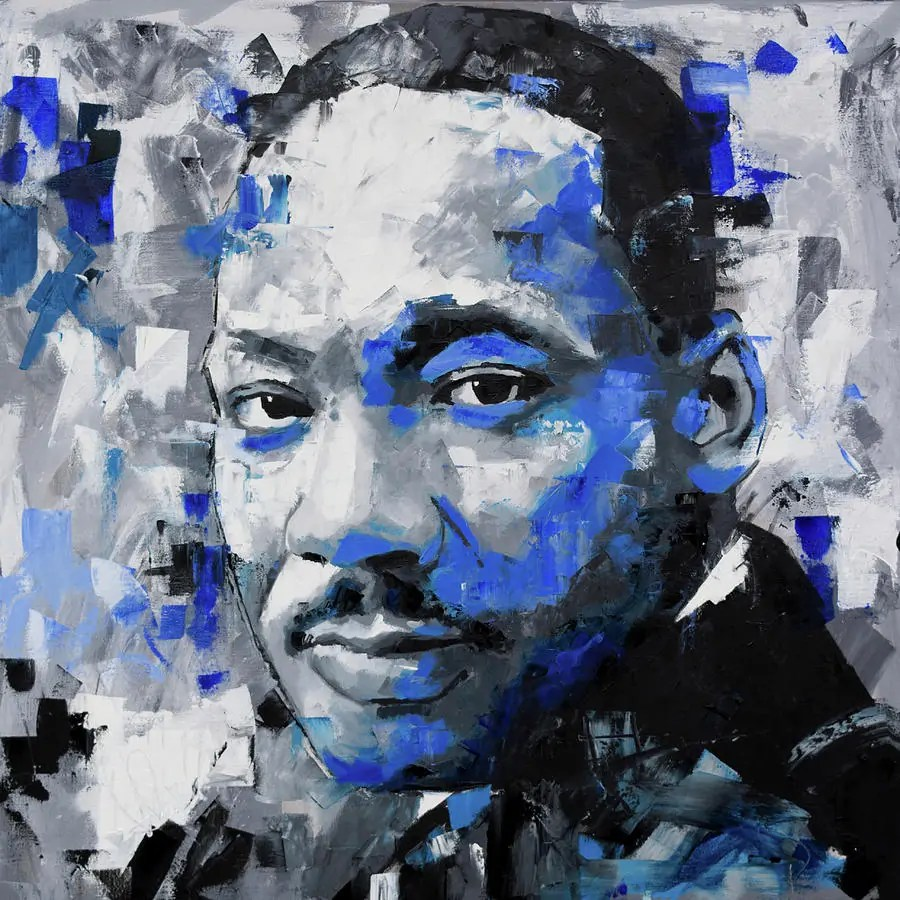 Martin Luther King Jr Painting by Richard Day