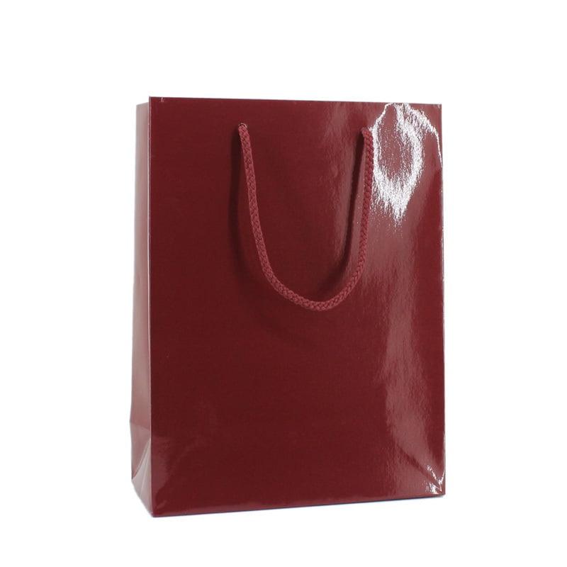 Luxe Papieren Tas - Bordeauxrood