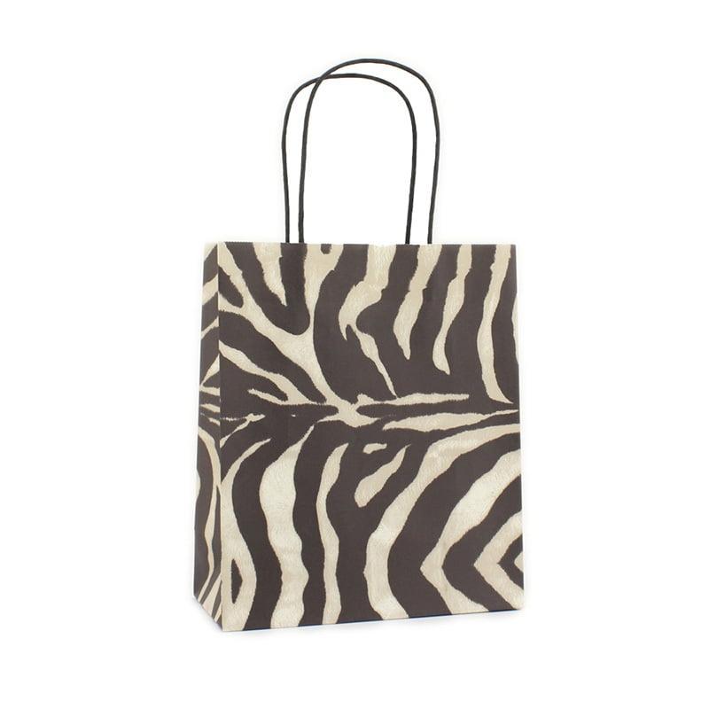 Basic Papieren Tas - Zebra Dessin