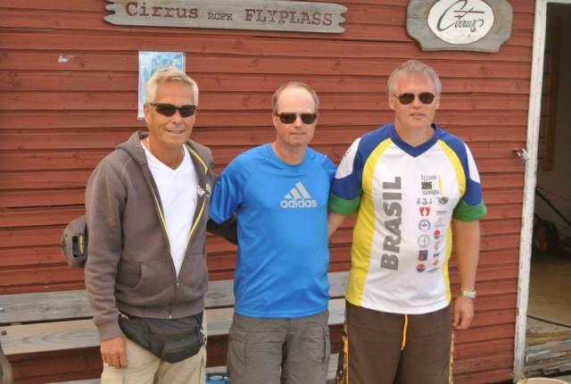 Lennart Arvidsson, Magnus Hedlund og Tor Midtlund Foto: Thorbjørn Jespersen