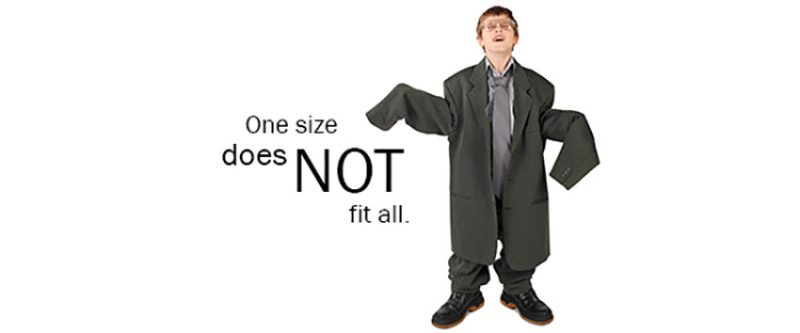 one size does not fit all clipart 850 354