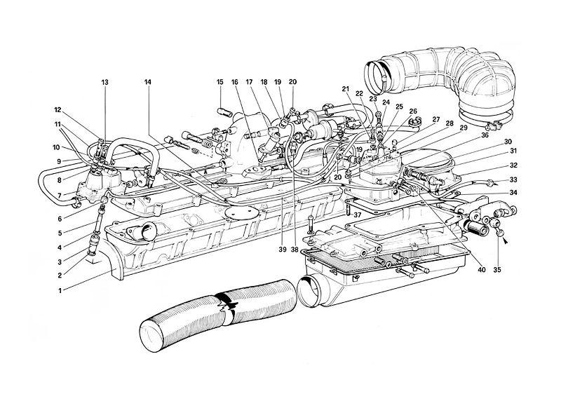 FERRARI 208/308, 328, MONDIAL Bosch Fuel Distributor