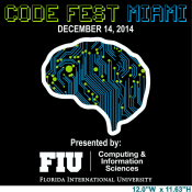 code fest miami at FIU poster