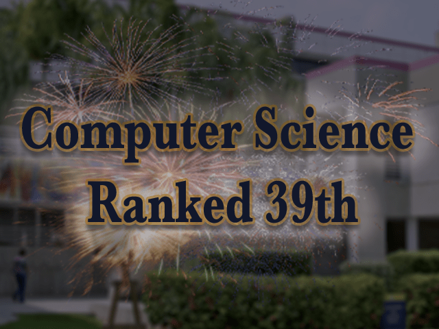 Computer Science Ranked 39th in latest NSF HERD Survey