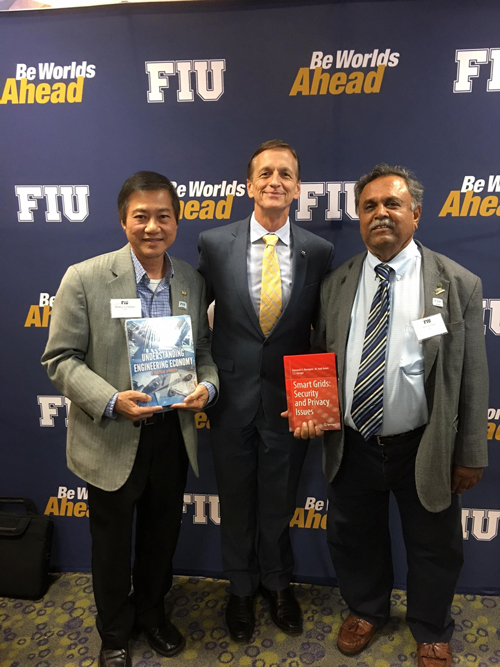 Dr. Iyengar is recognized at FIU's Book Authors' Recognition Reception