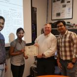 """Ms.Archana Satish Kumar worked on the research project titled """"Image Processing Approaches for Autonomous Navigation of Terrestrial Vehicles in Low Illumination"""" under the guidance of Mr.Thejas Gubbi Sadashiva, Mr.Sanjeev Kaushik Ramani, and Dr.S.S.Iyengar"""