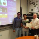 """Mr. Mithil K M worked on the research project titled """"A Multi Sensorial Fusion for High Speed Obstacle Avoidance Using Depth Perception and 3-D Point Cloud Generated Using LiDAR and Image Processing Using Camera in Self Balancing Robots"""" under the guidance of Mr.Thejas Gubbi Sadashiva, Mr.Sanjeev Kaushik Ramani, and Dr.S.S.Iyengar"""