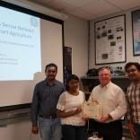 """Ms. Nidhi S Meda worked on the research project titled """"Mobile WSN Testbed for Agriculture: Plant Monitoring System"""" under the guidance of Mr.Thejas Gubbi Sadashiva, Mr.Sanjeev Kaushik Ramani, and Dr.S.S.Iyengar"""