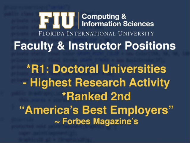 Faculty Positions Ad poster