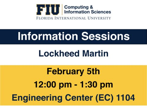 Poster of Lockheed Martin Info Session Feb 5th