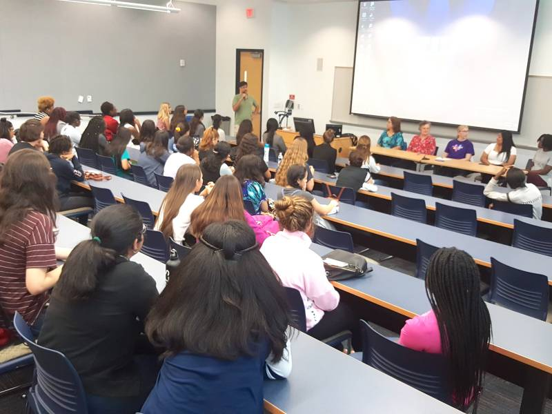 Photo of the Girls Who Code Panel 2018 at FIU