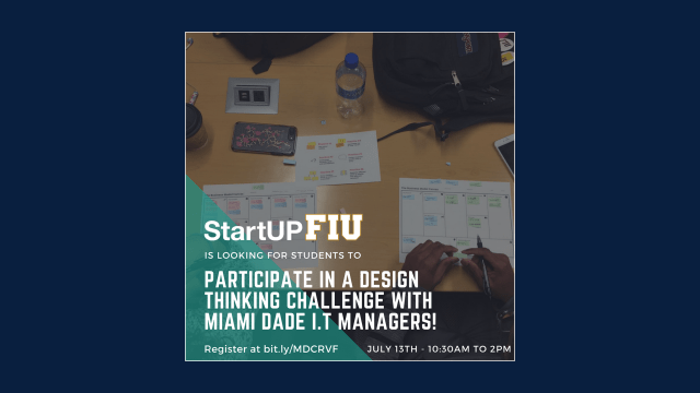 Flyer of startup fiu it retreat