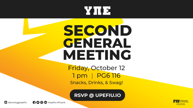 Flyer of UPE Second General Meeting