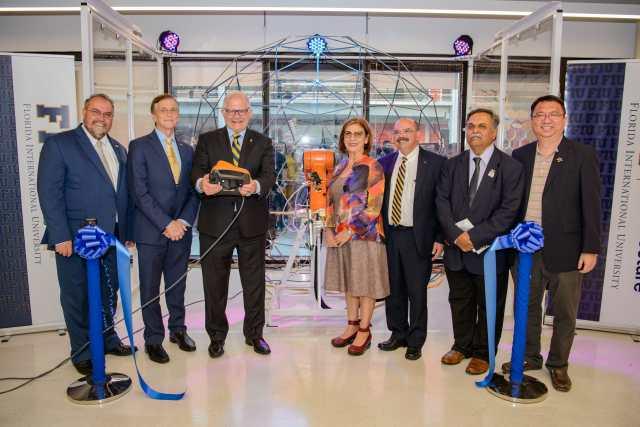 Photo of RDF Robotics Lab Grand Opening Ribbon Cutting ceremony