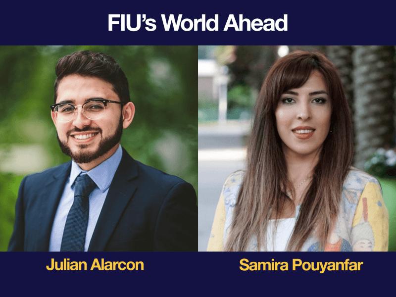 Photos of SCIS Worlds Ahead Graduates, Julian Alarcon and Samira Pouyanfar