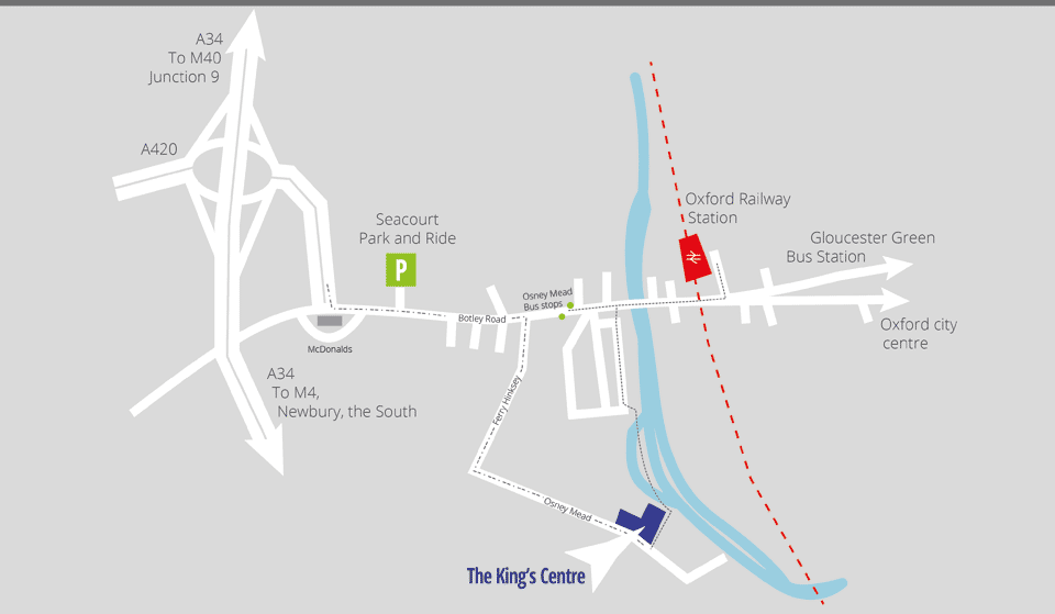 Travel information for The King's Centre, Oxford