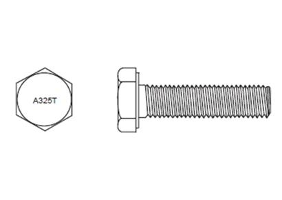 Boulons ASTM A325 Filetés sur Toute la Longueur