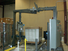 MA-X installed stretchwrapping machine