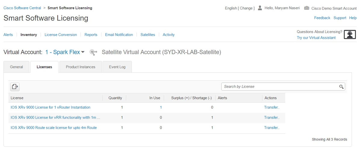 Smart License your XRv 9000 via Smart Software Manager