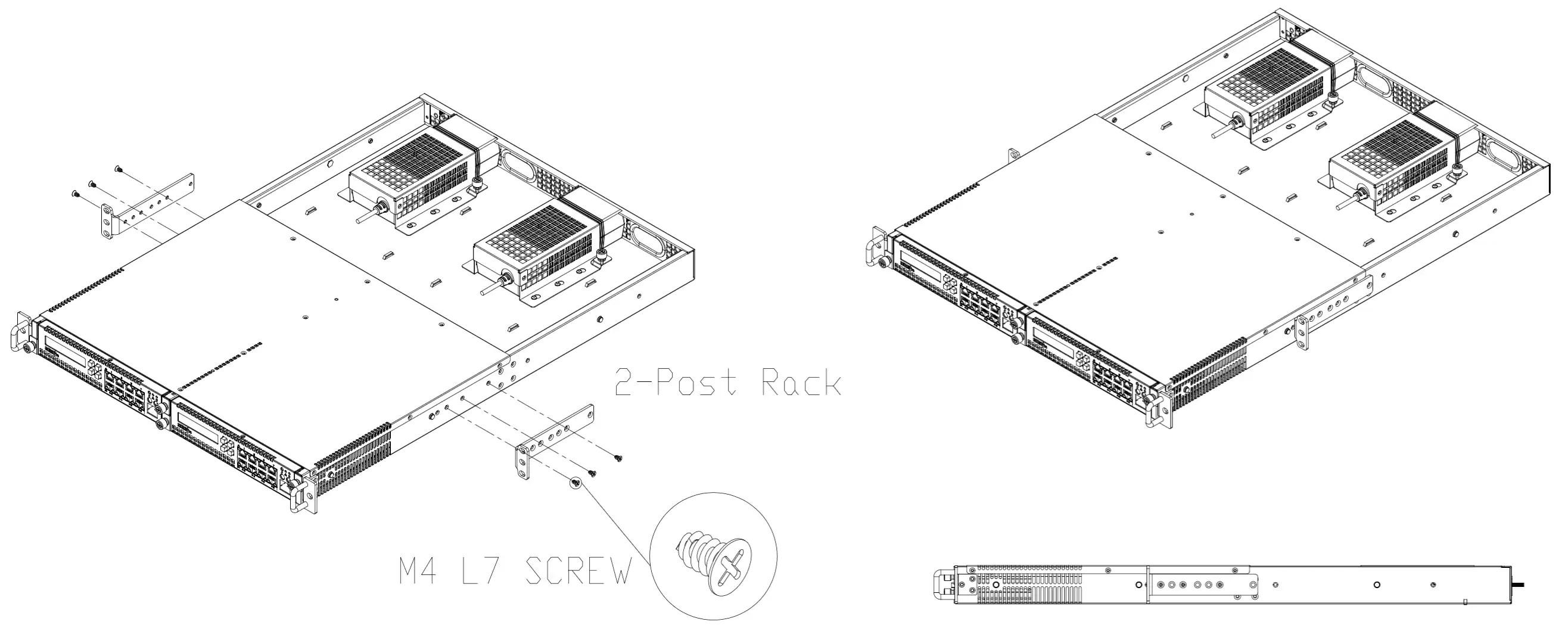 Sourcefire 3d 70xx Rack Kit 1u Rack Mounting Kit Fits 2