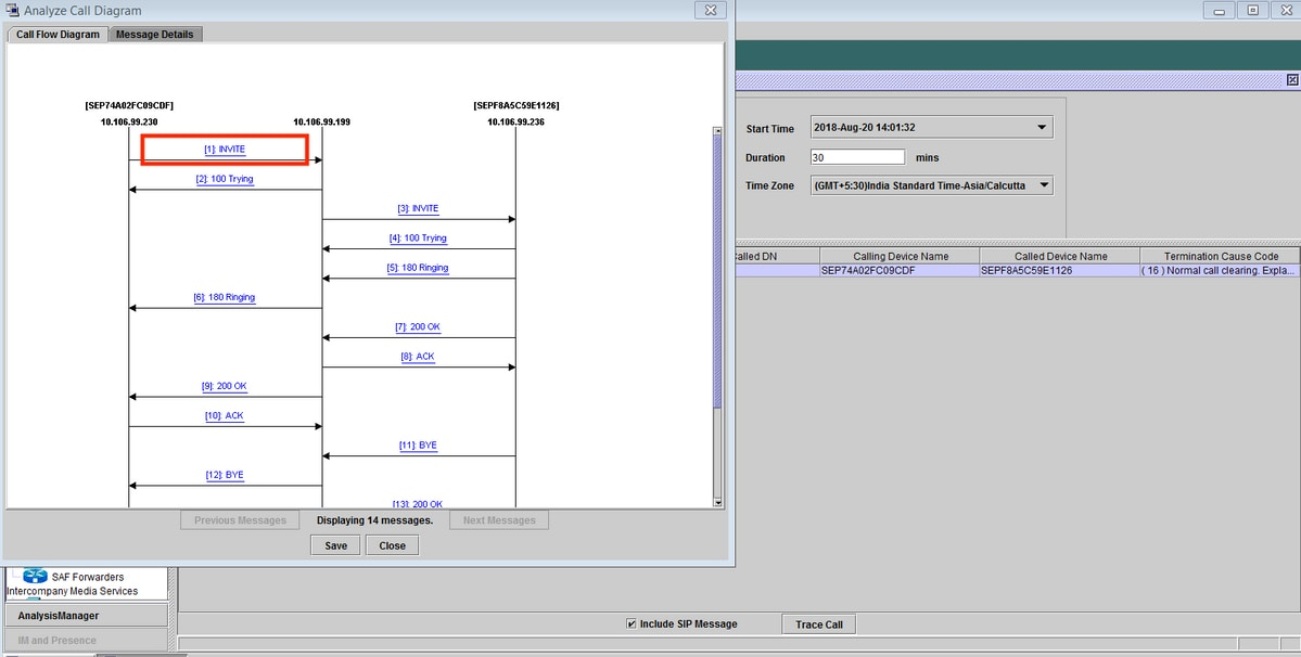 sip call flow diagram 1994 ford econoline radio wiring procedure to analyse of calls on rtmt cisco detailed signalling for the specific message appears under details section and navigate back click