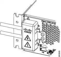Cisco CGR 2010 Router Terminal Cover Installation